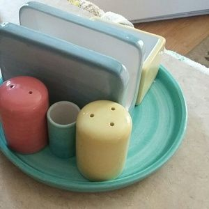 Salt, Pepper and napkin and sugar  tooth pick set